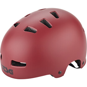 TSG Evolution Solid Color Fietshelm, satin oxblood